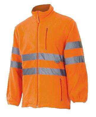 Forro polar de alta visibilidad naranja en Uniforma.