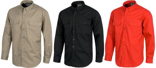 Camisas de trabajo de algodón 100% en Uniforma.