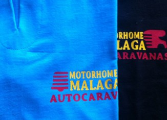 Camisetas con logo Motorhome Málaga
