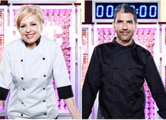 Presentadores del concurso televisivo Top chef vestidos por Velilla