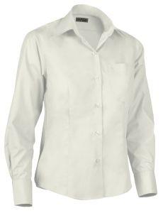 Camisa de mujer entallada blanca.