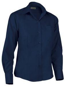Camisa de mujer entallada marino