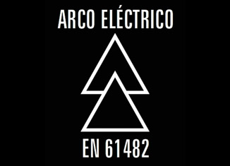 Pictograma normativa EN61482 para la ropa de trabajo contra arco eléctrico.