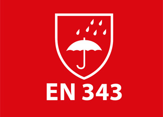 EN-343 Ropa de protección contra la lluvia.