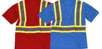 Camisetas con bandas reflectantes del tipo noche y día