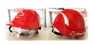 Cascos Cruz roja personalizados en uniforma