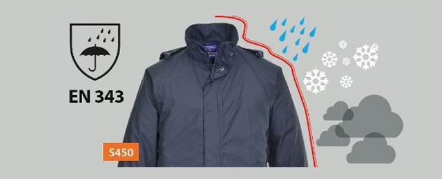 Explicación de la norma EN343, ropa de trabajo para el mal tiempo
