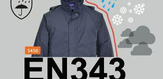 Norma para la ropa de trabajo contra el mal tiempo y la lluvia EN343