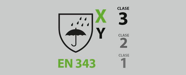 Ropa de trabajo para el mal tiempo según la norma EN343.