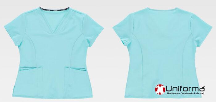 Casacas cuello pico elásticas para sanidad, enfermeras, dentistas, farmacias, centros de belleza, casacas cómodas, económicas baratas en uniforma