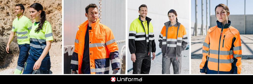 Ropa de trabajo de alta visibilidad reflectante en uniforma