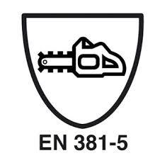 EN381 Ropa de trabajo contra riesgo por cadenas para trabajos forestales